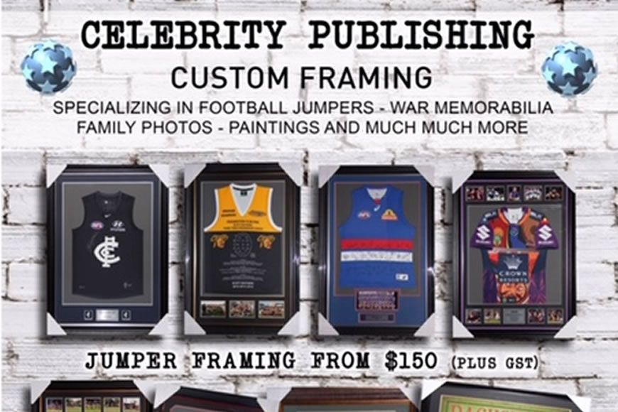 Celebrity Publishing & Custom Framing.