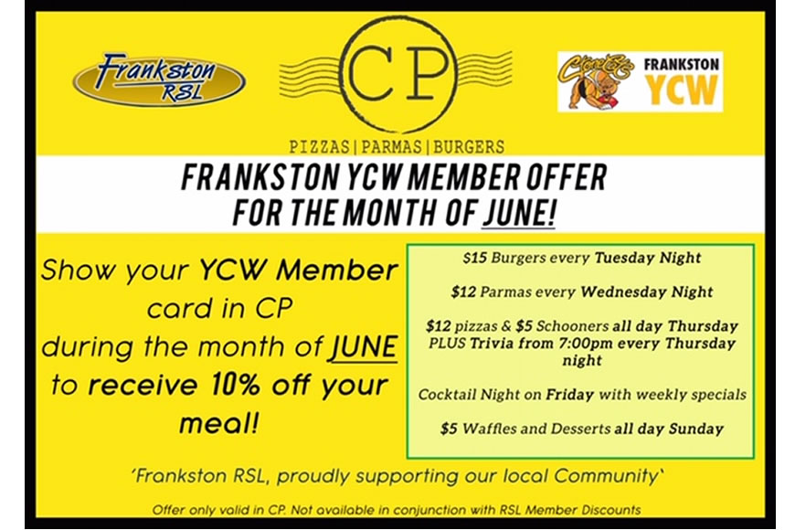 Frankston YCW Member Offer for the month of June