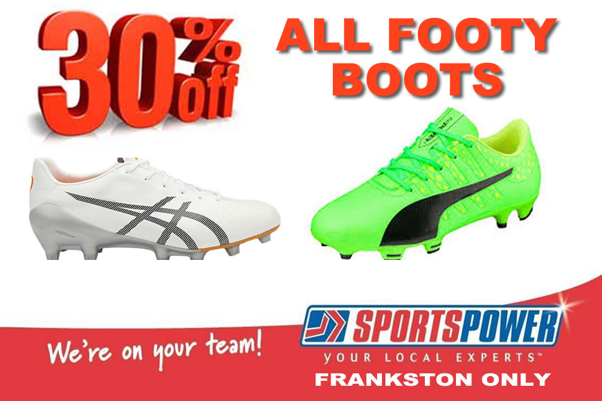30% OFF All Footy Boots