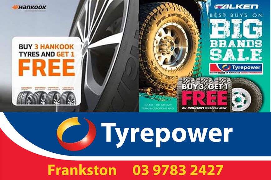 Buy 3, Get 1 Free at Tyrepower Frankston