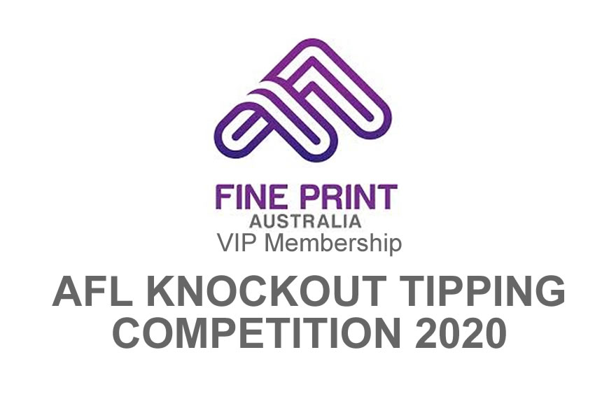 IMPORTANT MESSAGE: AFL Knockout Tipping Comp.