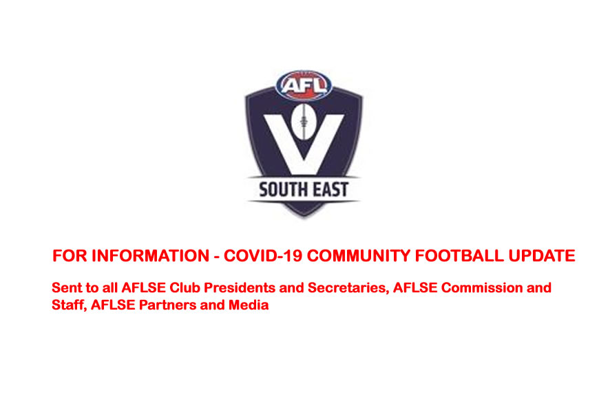 FOR INFORMATION - COVID-19 COMMUNITY FOOTBALL UPDATE